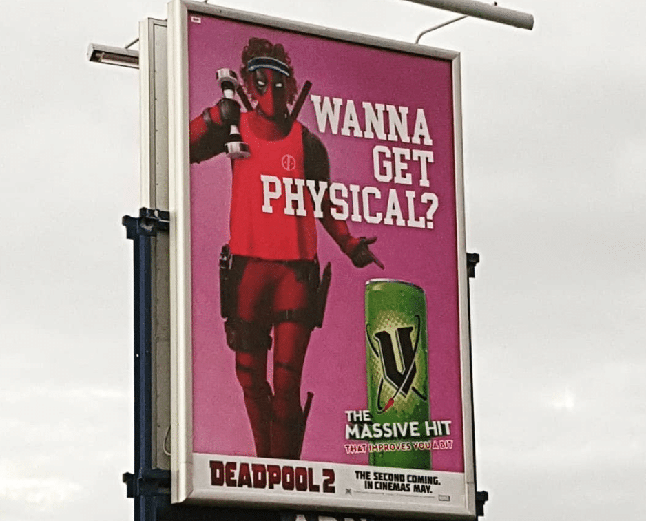 Deadpool 2 V Energy Drink Example Property and Real estate Marketing | Hydra Digital Blog